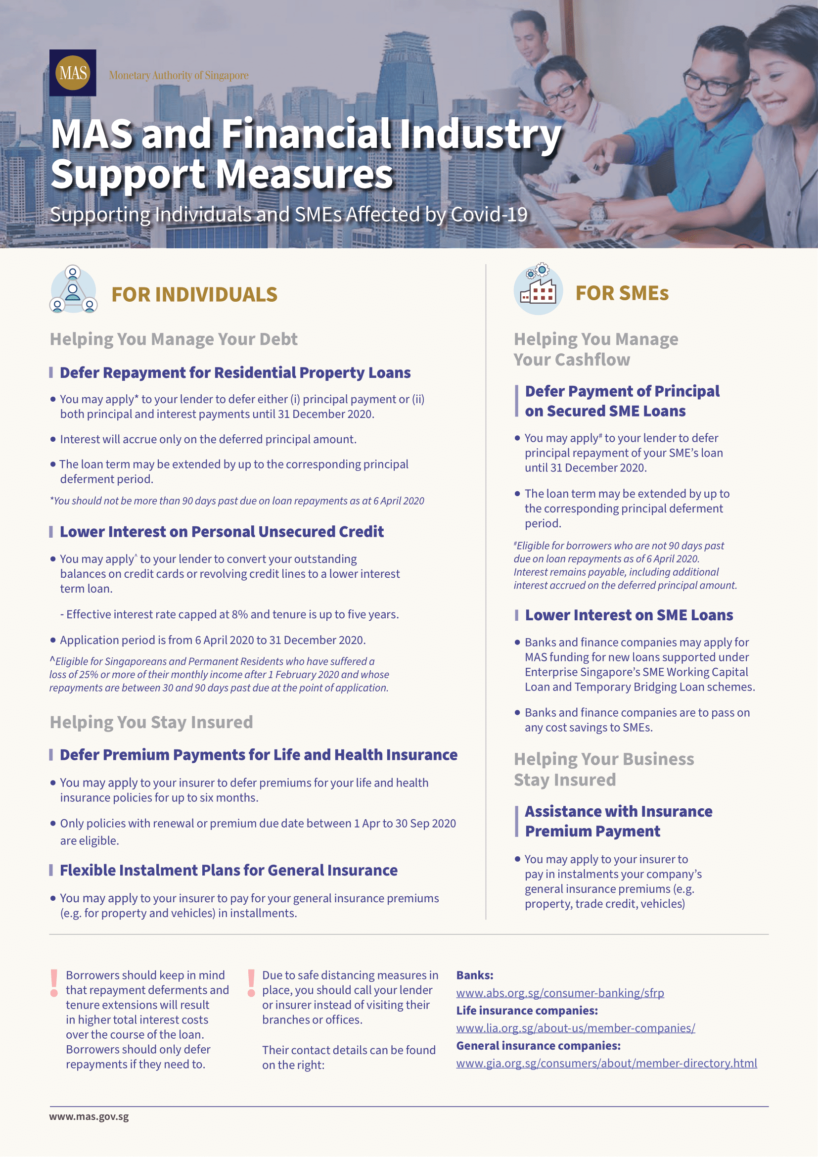 MAS COVID-19 Support Measures Infographic