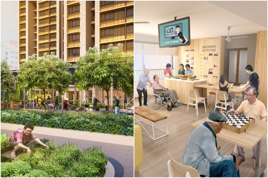 An illustration of how the communtiy care apartments are going to look like