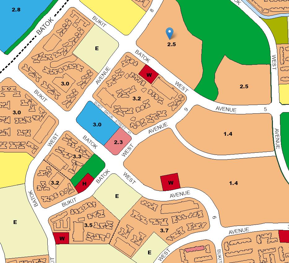Screenshot of the huge plot of upcoming residences around this BTO