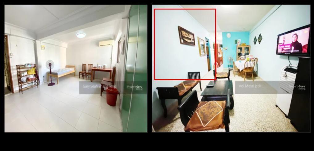 A comparison between a studio apartment vs a 1-rm flat