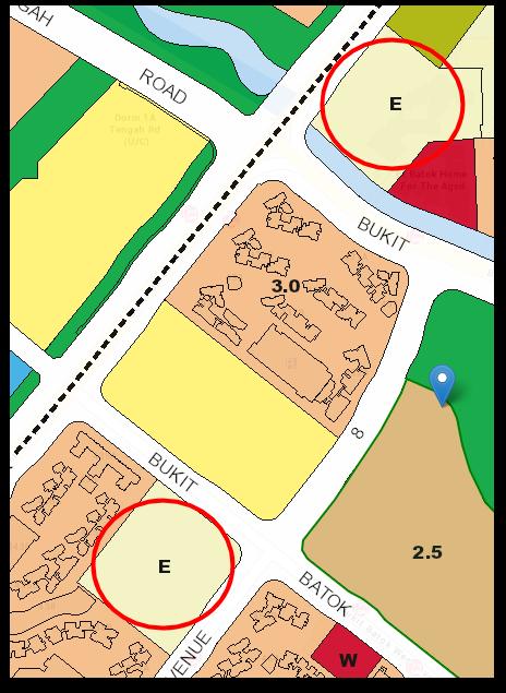 Screenshot of the upcoming schools according to the URA Master Plan