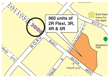Screenshot of the avenue this BTO is going to be located at