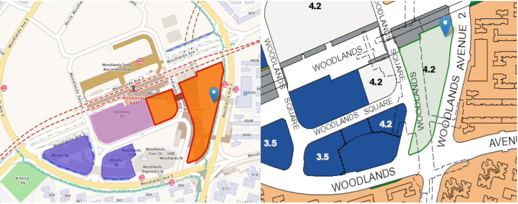 URA map showing where the mall will be