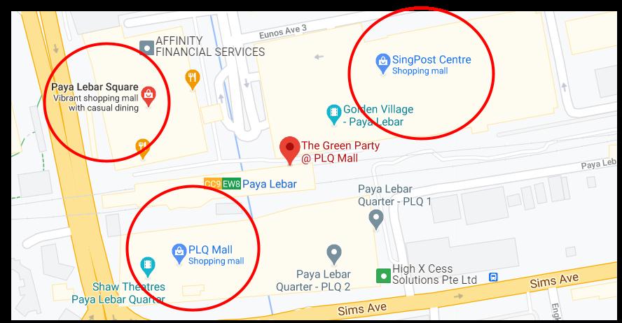 Screenshot of a few malls