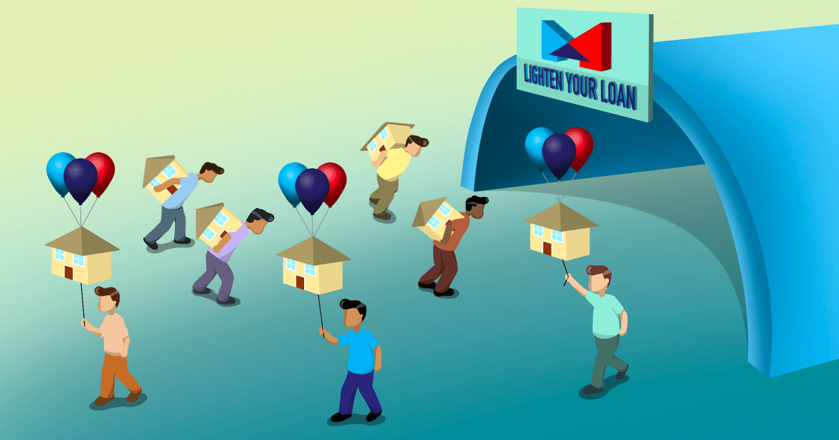 Illustration of Mortgage Master helping customers lighten their loan